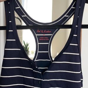 Anthropologie Tops - Navy striped bodysuit